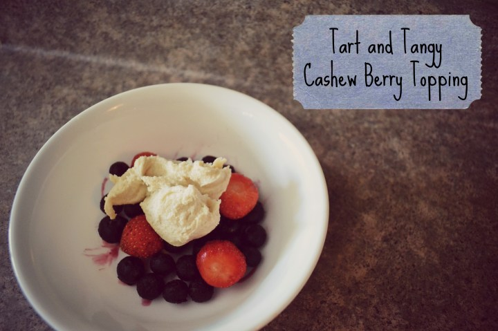 tart and tangy cashew berry topping