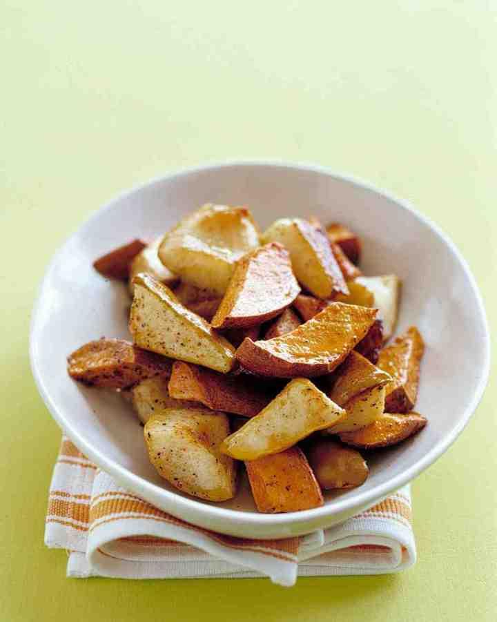 sweet potatoes and pears