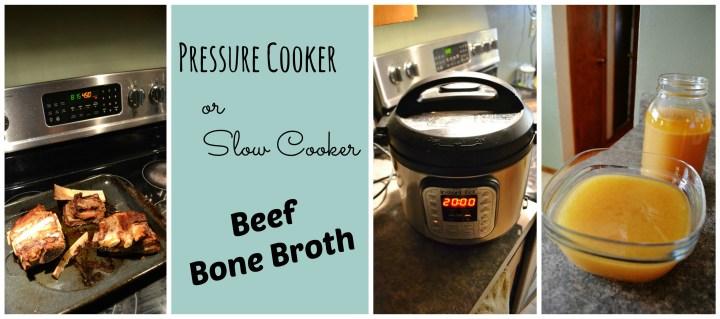Pressure Cooker or Slow Cooker Beef Bone Broth