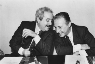 Judges Giovanni Falcone and Paolo Borsellino, both killed by the mob in 1992