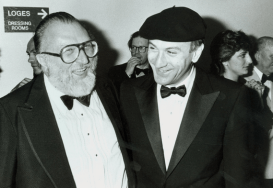 Sergio Leone and Robert De Niro at C'era una Volta in America screening