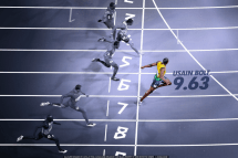 An amazing time by Usain Bolt