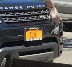 """New York license plate reading """"FLEE"""""""