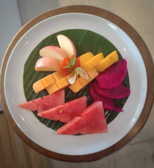 Fruit Salad (With Chocolate Mousse or Tamarind Sauce)