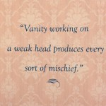 Thursday Thoughts: Vanity
