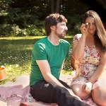 Picnic Engagement Photos