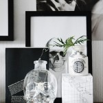 spooky, black and white halloween party inspiration