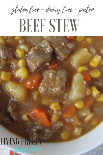 Easy gluten free beef stew