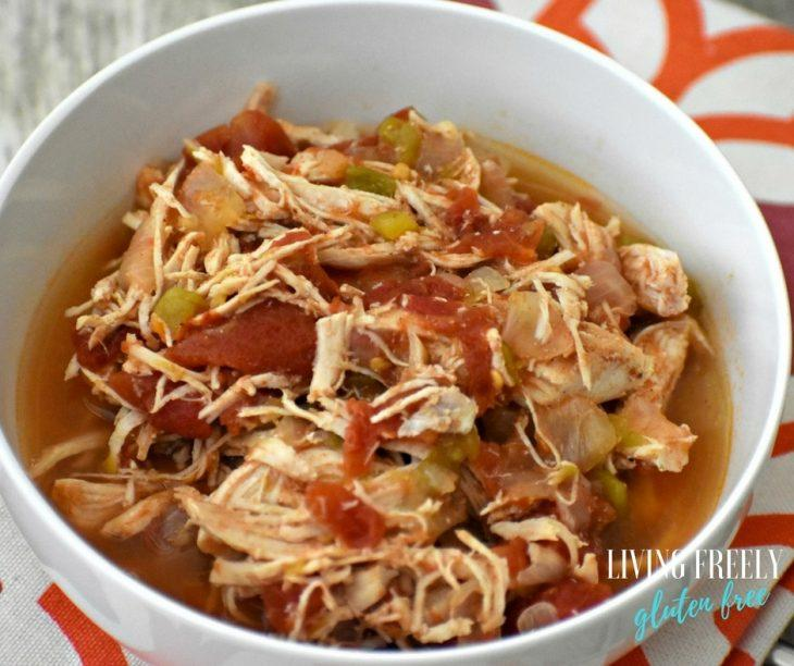 Salsa Chicken in a bowl