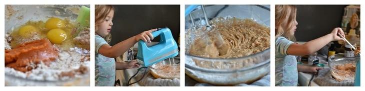 Paleo pancakes process shots