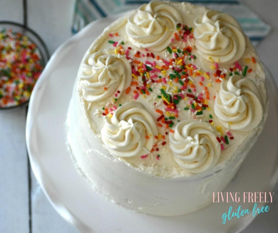 Astounding Easy Gluten And Dairy Free Vanilla Cake The Best Gluten Free Cake Funny Birthday Cards Online Inifodamsfinfo