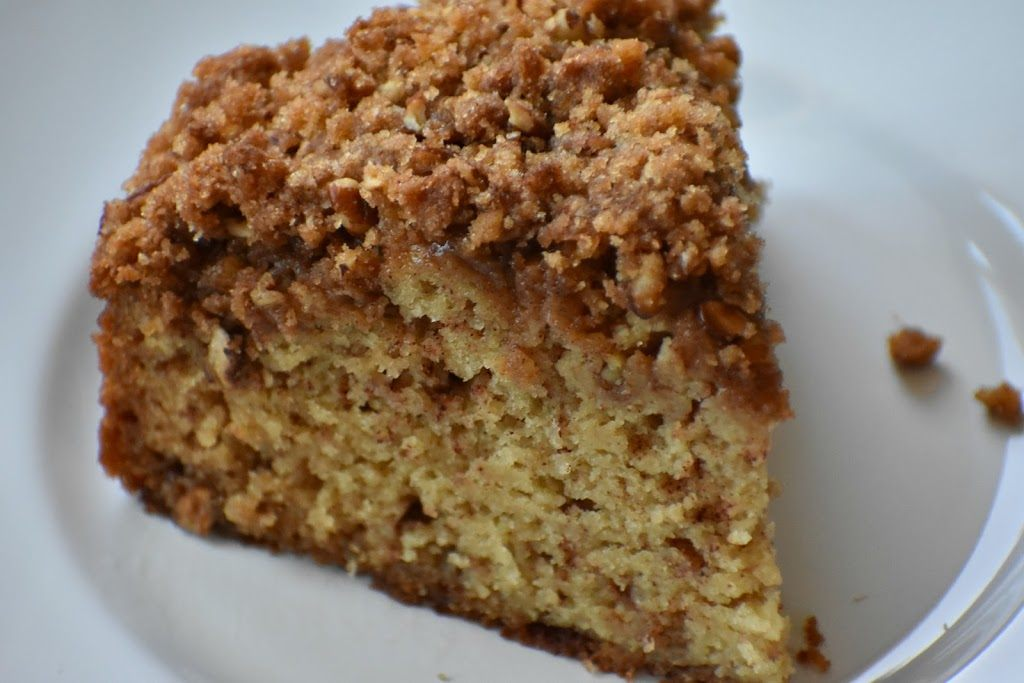 Gluten Free Coffee Cake on a plate