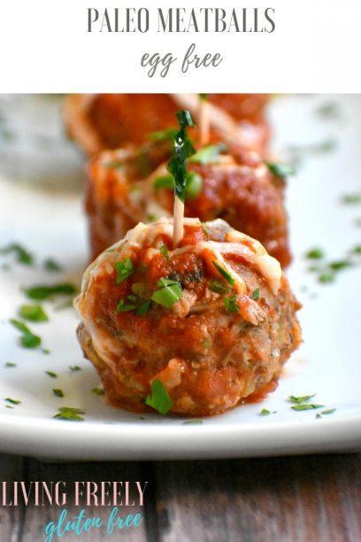 Paleo Meatballs no eggs on a plate to serve