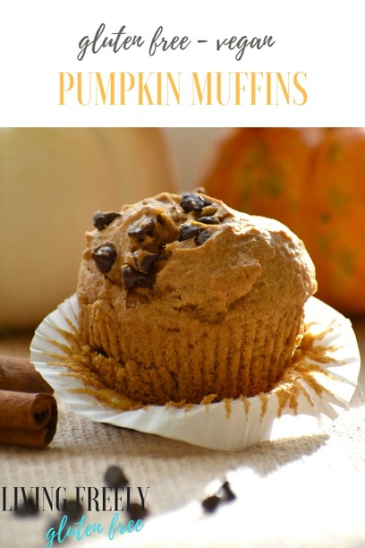 easy vegan gluten free pumpkin muffins