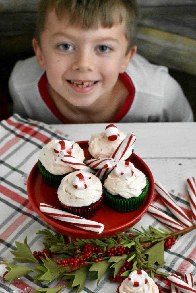 Chocolate Cupcakes with Peppermint Buttercream