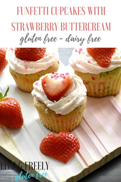 Funfetti Cupcakes with Strawberry Buttercream