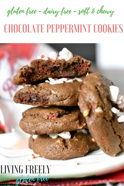 Gluten Free Chocolate Chip Peppermint Cookies
