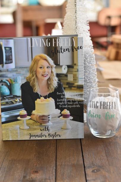 Cookbook and Wineglass