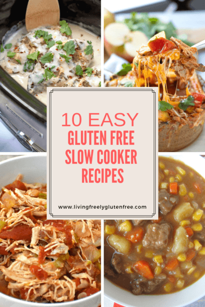 PIN image for 10 easy gluten free slow cooker recipes