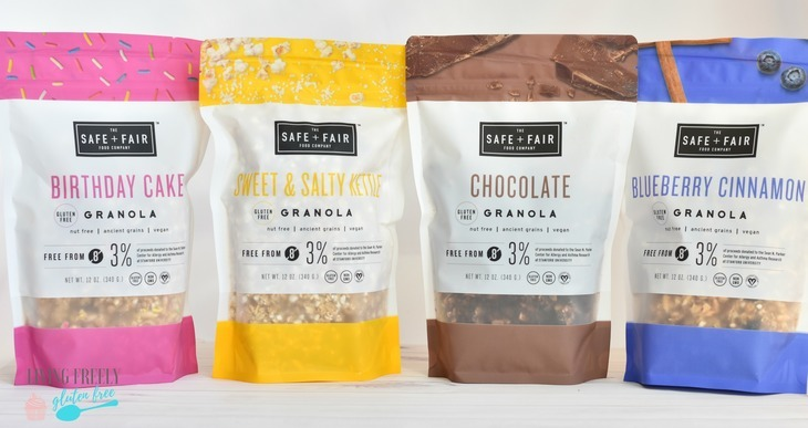 Safe and Fairy granola flavors