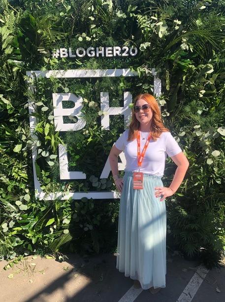 Jennifer Bigler at BlogHer20 Health in Los Angeles, CA