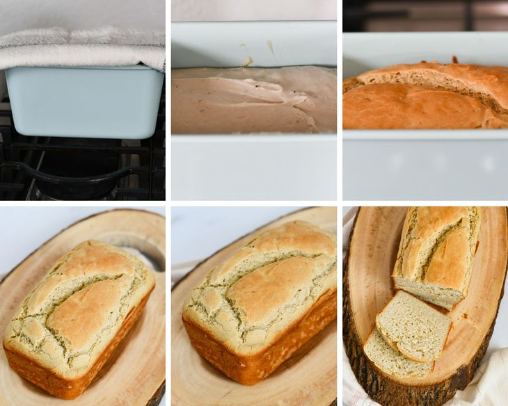 gluten free bread process shots