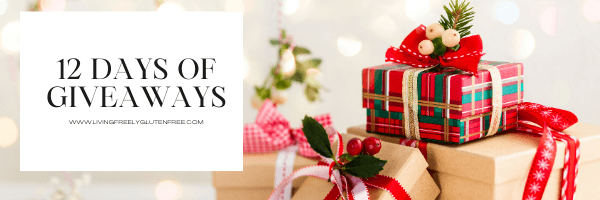 picture of gifts with the 12 days of giveaways