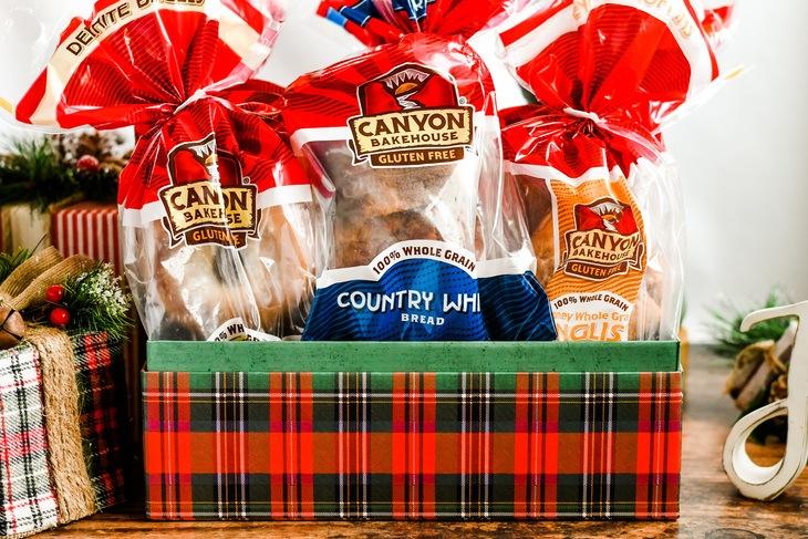 Canyon Bakehouse bread in a christmas box