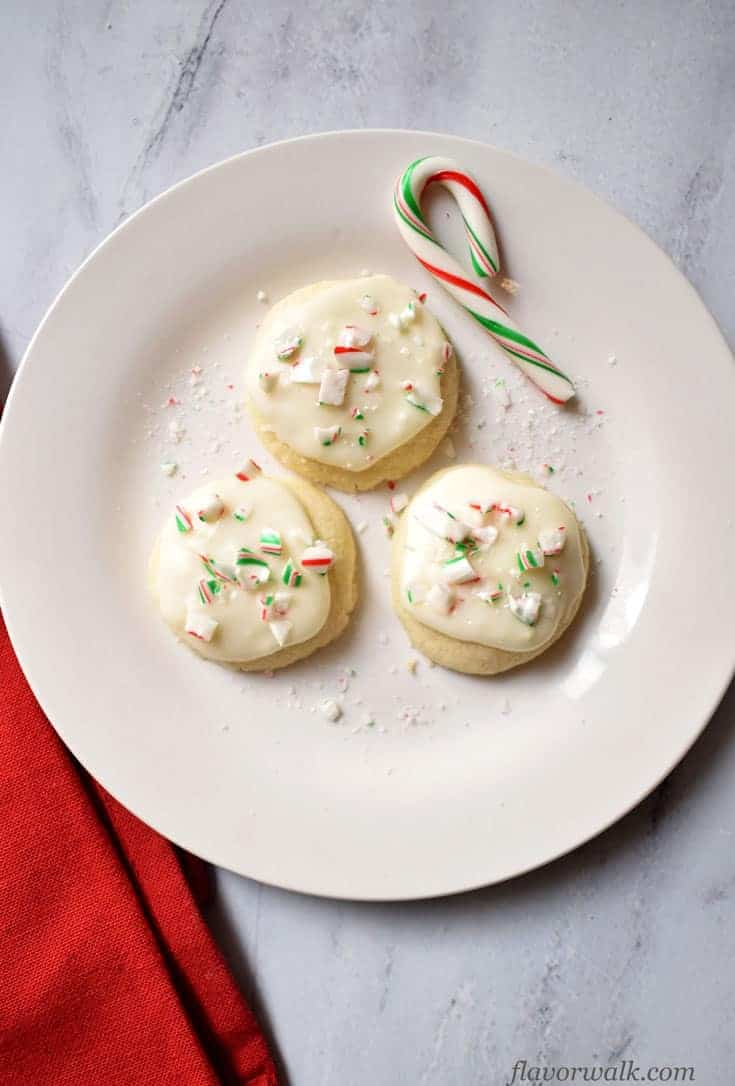 gluten free meltaway peppermint cookies on a plate