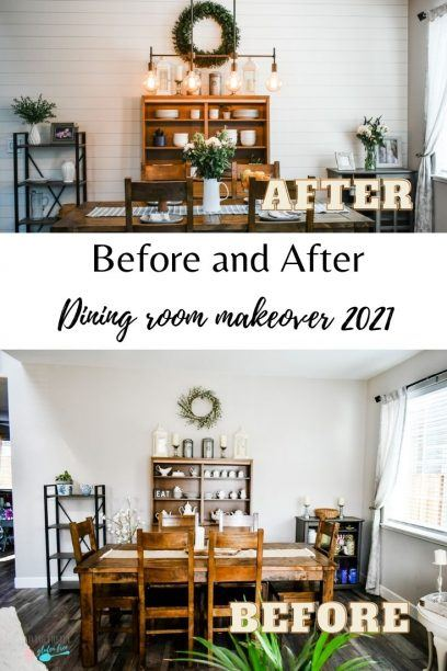 pin for before and after dining room makeover