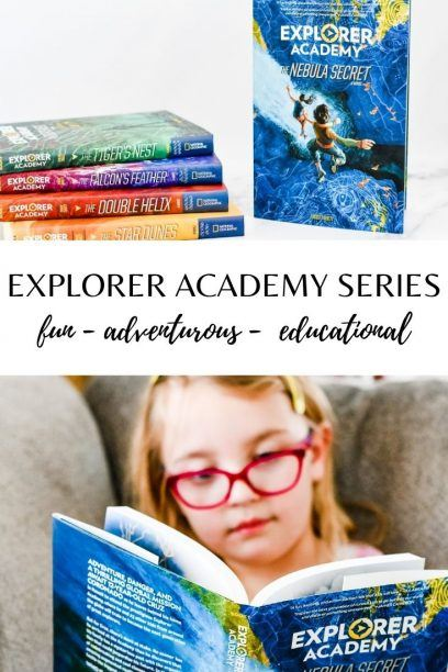 pin with kids reading explorer academy books