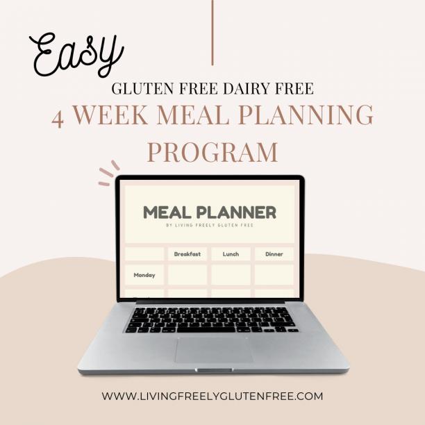 easy 4 week gluten free meal planning program