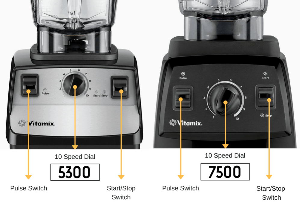 vitamix 5300 vs 7500 controls