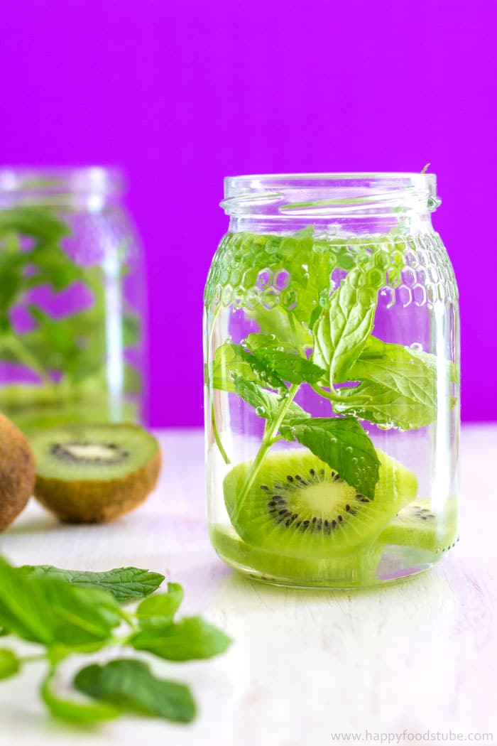kiwi mint infused water recipe for weight loss