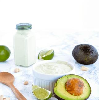 cashew avocado lime crema