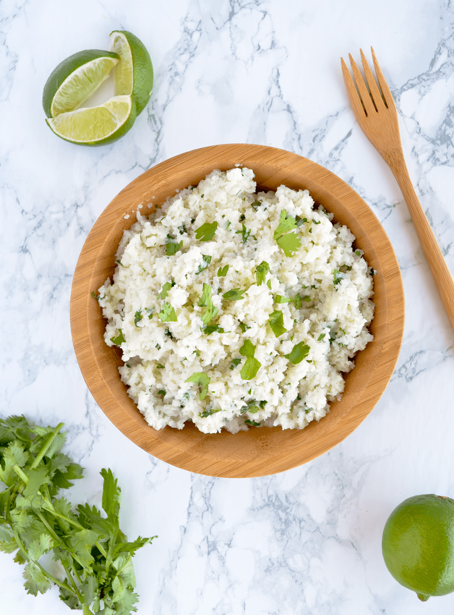 cilantro lime cauliflower rice bowl