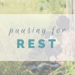 Resting takes intention. Beyond the hours, days, weeks on the couch often required by chronic illness, we must intentionally carve out space and time for healing rest. For our body, soul, and mind.