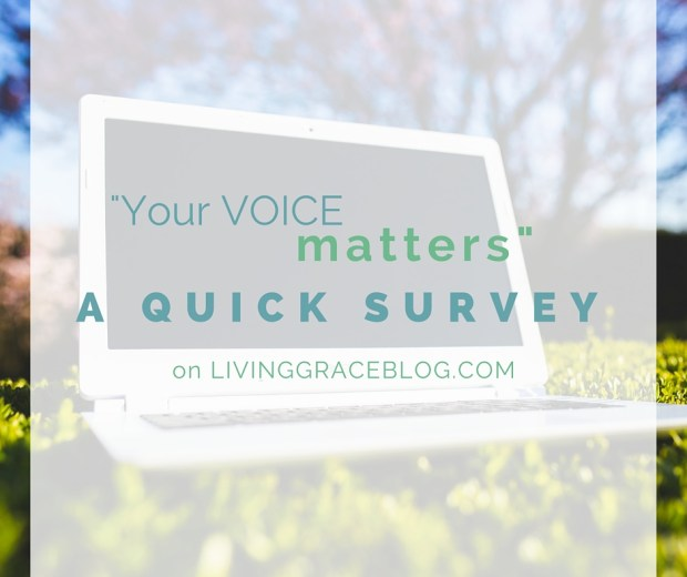 I'd love to hear from YOU! Tell me what you'd like to read/see on the blog!