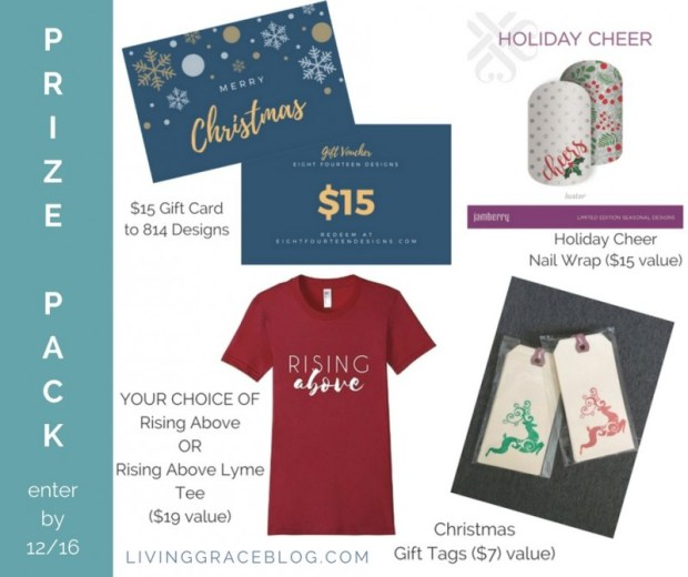 Enter to WIN this Christmas prize pack from Living Grace Blog!