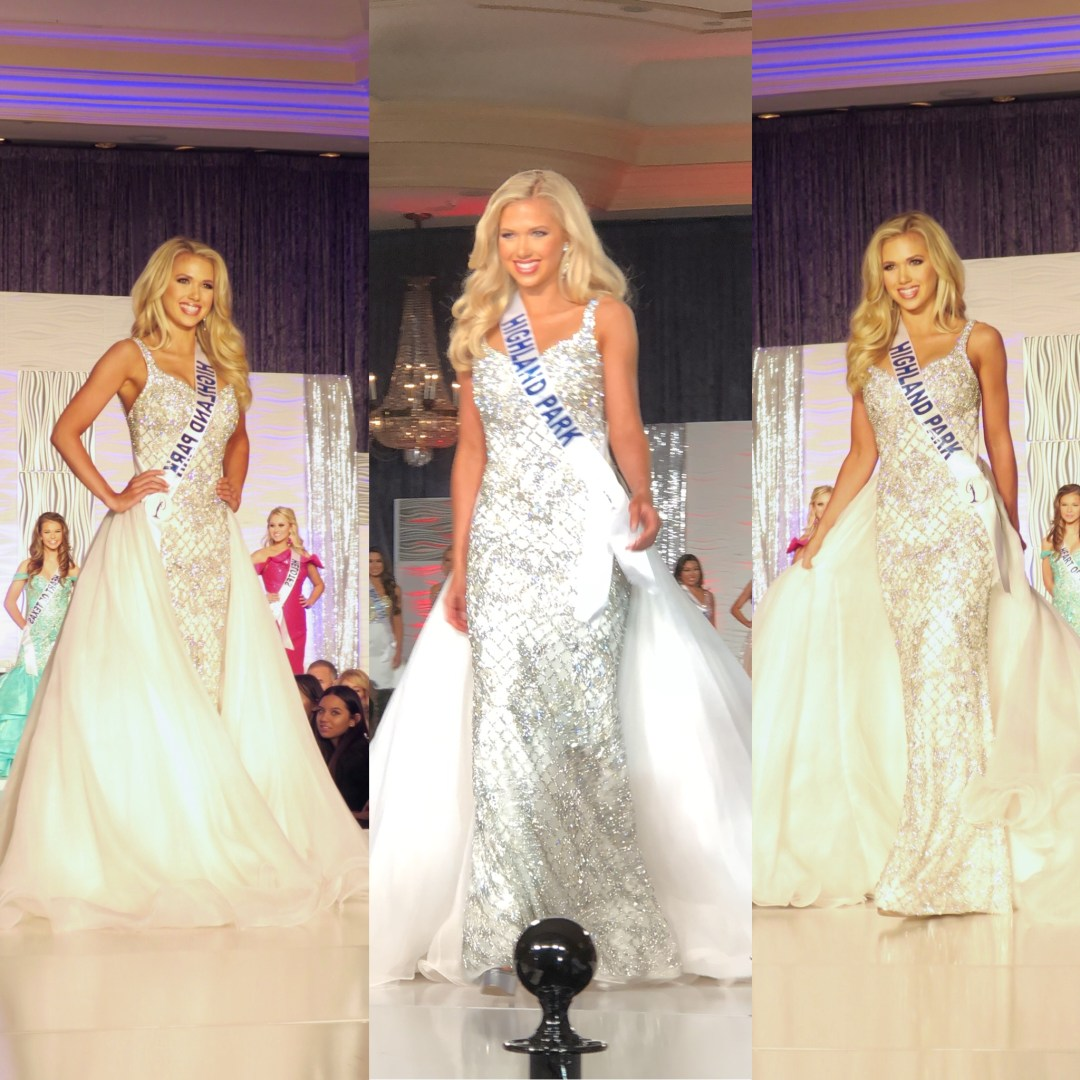 Gracie Hunt, Miss Texas Teen USA, semifinalist, pageant, evening gown competition, competition, white evening gown, Miss Teen USA