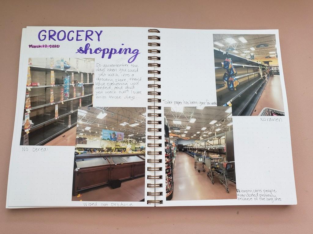 Coronavirus Journal Grocery Shopping