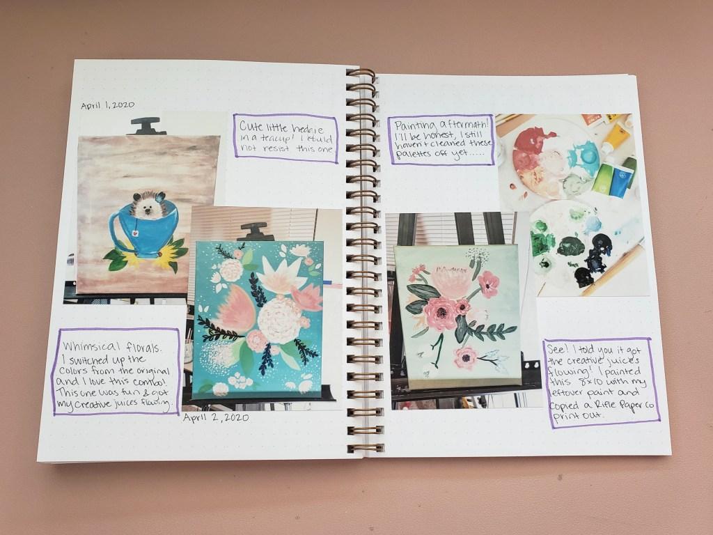 Coronavirus Journal Paint Nights