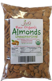 Raw Unpasteurized Organic Almonds
