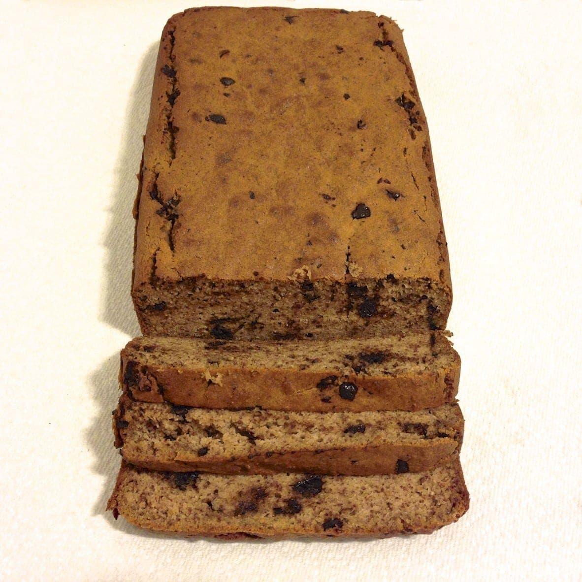 paleo chocolate chip banana loaf