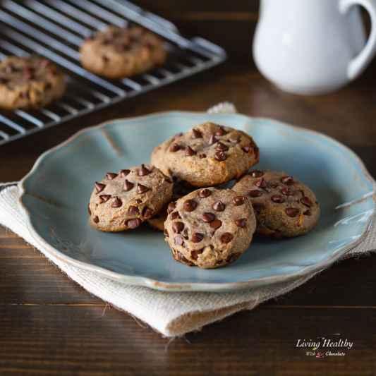 Flourless Chocolate Chip Cookies (Gluten Free, Paleo)