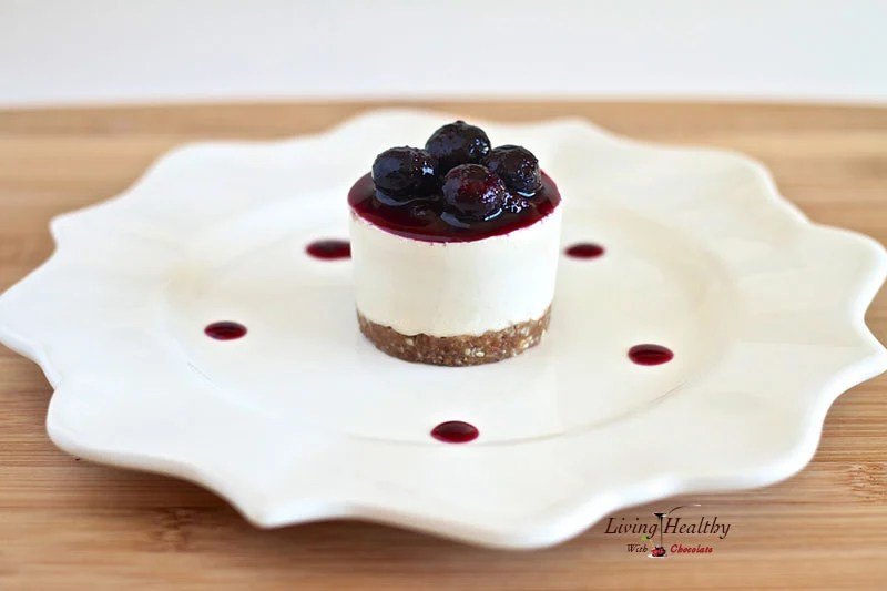 Raw, No Bake Blueberry Cheesecake