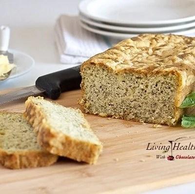 Savory Pesto Parmesan Bread (gluten, grain free)