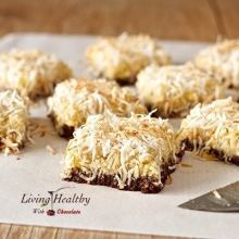 Paleo Pineapple Coconut Bars With Chocolate Macadamia Nut Crust