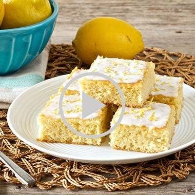 Paleo lemon brownies with coconut lemon glaze recipe