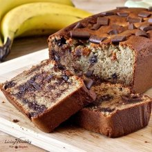 Peanut Butter Cup Banana Bread (gluten/grain/dairy free)